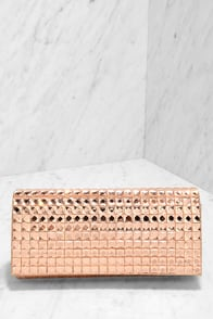 Magic at Midnight Blush Rhinestone Clutch at Lulus.com!