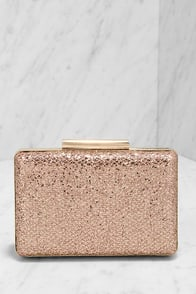 Can't Miss Me Gold and Pink Glitter Clutch at Lulus.com!