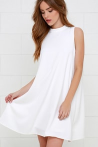 Sway Time Ivory Swing Dress at Lulus.com!