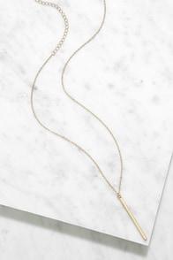 LULUS Exclusive Monolith Gold Pendant Necklace