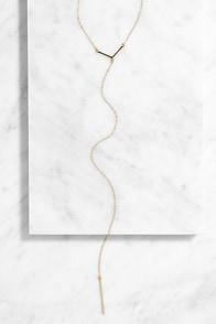 Beat Drop Gold Necklace at Lulus.com!