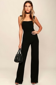 Enticing Endeavors Black Jumpsuit