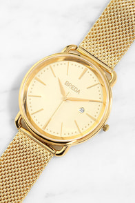 Breda Linx Gold Watch