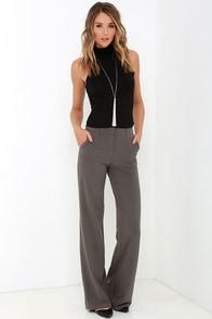 Case Study Grey Wide-Leg Pants