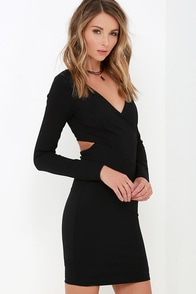 Stand Your Ground Black Long Sleeve Dress at Lulus.com!