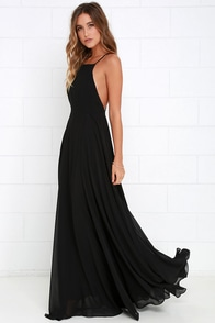 Mythical Kind of Love Black Maxi Dress