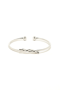 Feeling Entwined Silver Bracelet at Lulus.com!