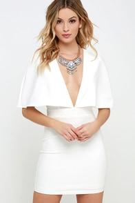 Swift as the Wind Ivory Cape Dress at Lulus.com!