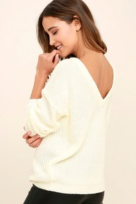 Island Ferry Cream Sweater