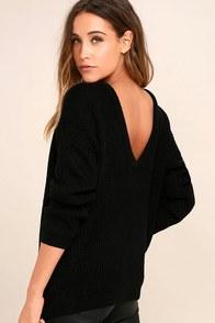 Island Ferry Black Sweater