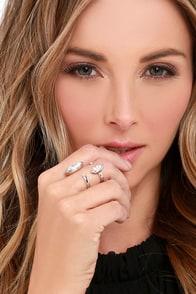 Everlasting Love Silver Rhinestone Ring