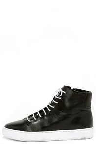 Sixtyseven Irma 77714 Black Leather High Top Sneakers at Lulus.com!