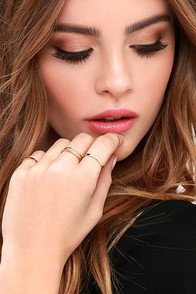 These Reveries Gold Ring Set