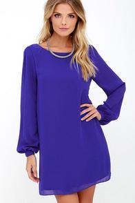 Status Update Royal Blue Shift Dress at Lulus.com!