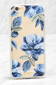 image Sonix Clear Indigo Blue Floral Print iPhone 6 and 6s Case