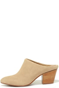 Image Seychelles Got the Answer Natural Suede Leather Mules