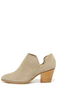 Seychelles Sashay Taupe Suede Leather Ankle Booties
