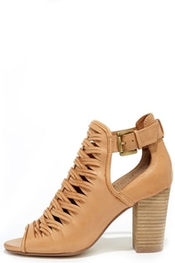 image Chinese Laundry Tatiana Cognac Leather Braided Ankle Booties