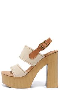Sbicca Annabella Natural Platform Sandals