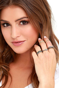 image Collect Your Thoughts Silver and Gold Ring Set