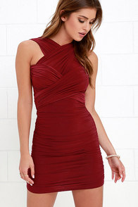A Joy Forever Wine Red Convertible Dress at Lulus.com!
