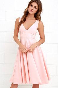 Of My Dreams Peach Midi Dress at Lulus.com!