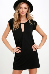 Fluidity Black Wrap Dress