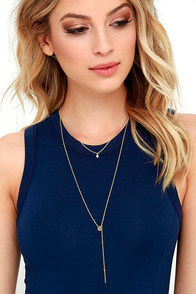 image Places to Dream Gold Layered Drop Necklace Set