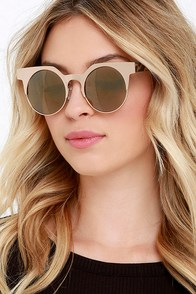 Stampede Gold Mirrored Sunglasses at Lulus.com!