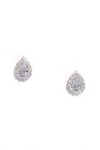Grateful for the Gleam Silver Rhinestone Earrings