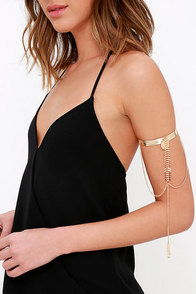 image Headed West Gold Arm Cuff