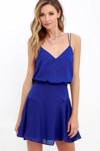 Wanna Bet? Royal Blue Sleeveless Dress