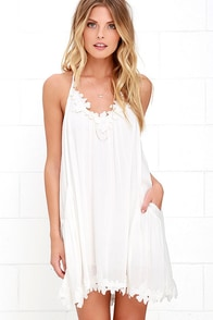 Lily Love Ivory Shift Dress at Lulus.com!