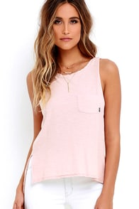 Obey Harper Blush Tank Top at Lulus.com!