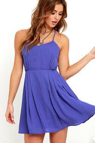 Jack by BB Dakota Nellie Royal Blue Dress