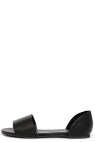 Cuter Than Ever Black D'Orsay Flats
