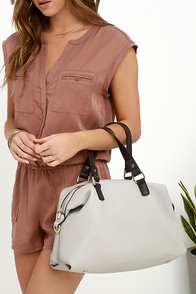 Feature Presentation Grey Tote at Lulus.com!