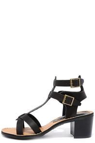 Sea Castle Black Heeled Sandals