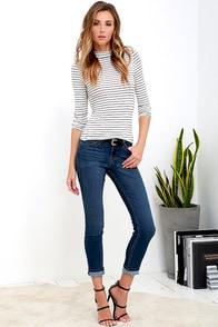 Tardy Slip Medium Wash Skinny Jeans