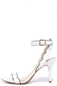 Jessica Simpson Morena Powder White Leather Heels