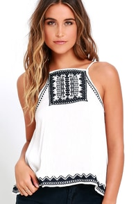 image Machu Picchu Ivory Embroidered Top