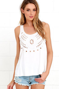 Breezy Beauty Ivory Embroidered Top at Lulus.com!