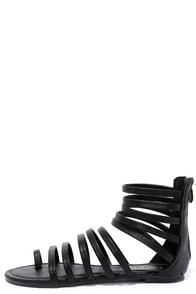 Room to Rome Black Gladiator Sandals