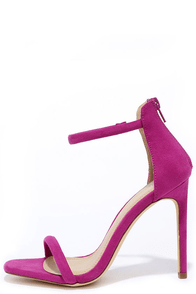 image Do the Tango Purple Suede Ankle Strap Heels