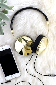 image Frends with Benefits Taylor Gold and Black Headphones