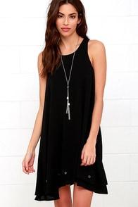 Grommet Expectations Black Swing Dress