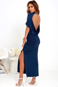 Brave Soul Navy Blue Maxi Dress