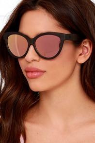 image Woodzee Kourtney Pink Mirrored Ebony Wood Sunglasses