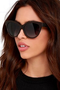 Woodzee Kourtney Gradient Lens Ebony Wood Sunglasses