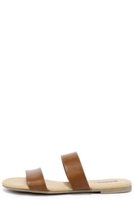 Electric Slide Tan Slide Sandals Image